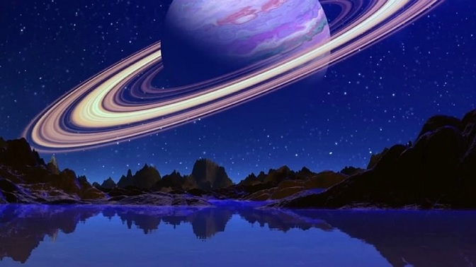 Вокруг Луны образовалось кольцо и она стала похожа на Сатурн