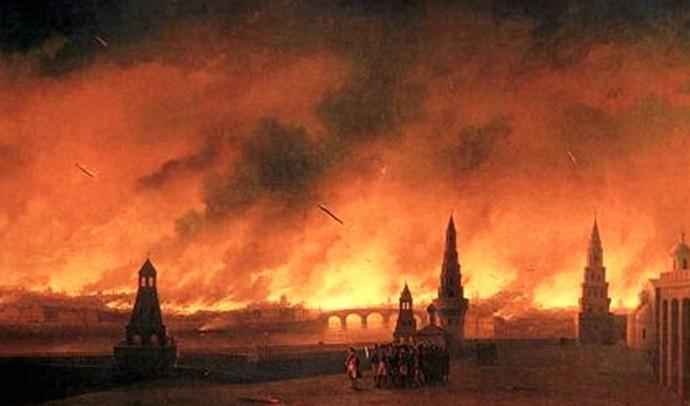Странный пожар в Москве 1812 года, очень похожий на ядерную атаку