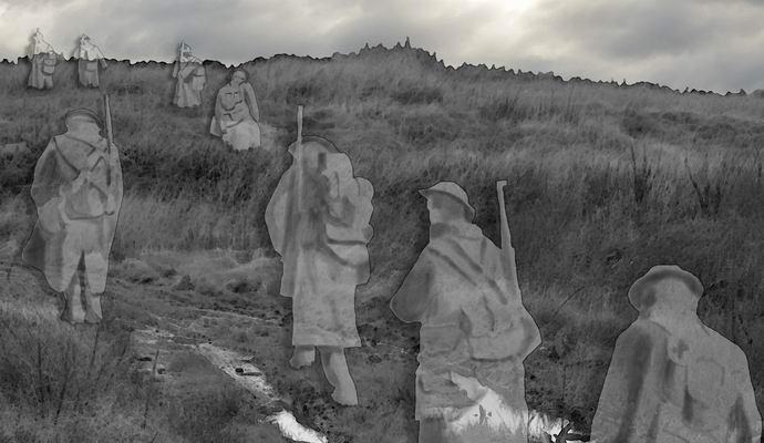 Ирландская семья сфотографировала в лесу призрак солдата