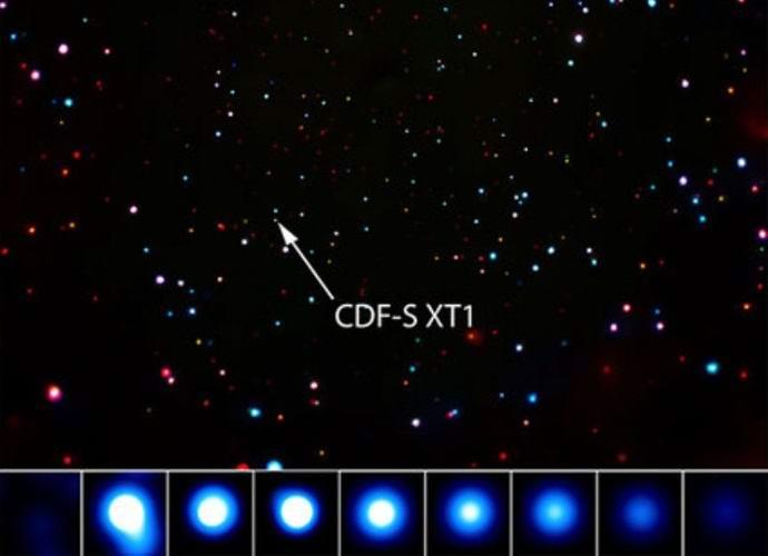 Инопланетяне взорвали что-то огромное в космосе? (2 фото)