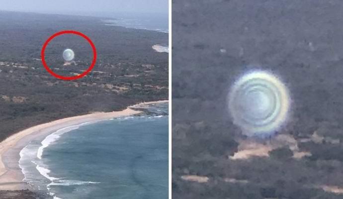 Туристы случайно сняли из самолета НЛО