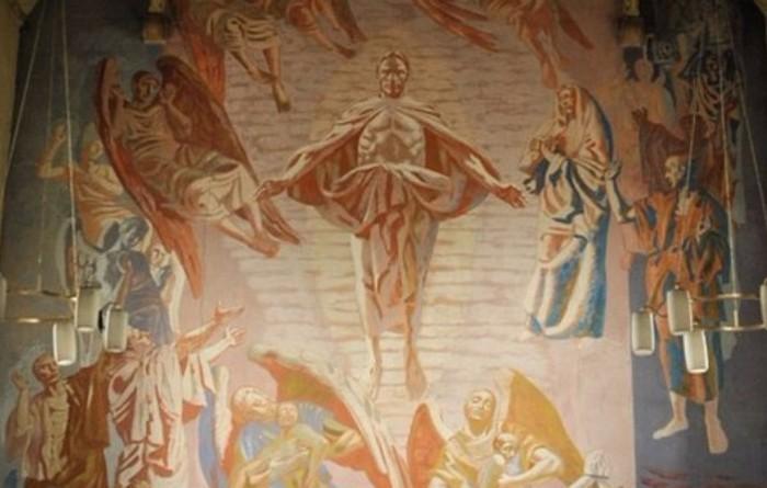 Открыта замурованная уникальная фреска Иисуса Христа