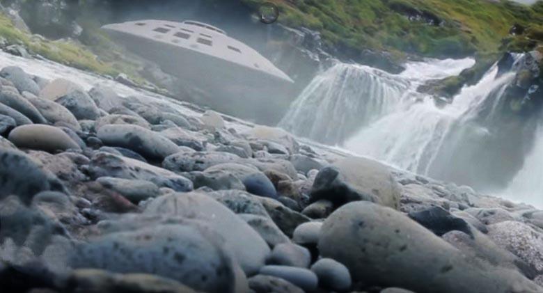 Дрон натолкнулся на «летающую тарелку» и отлично снял ее на видеокамеру