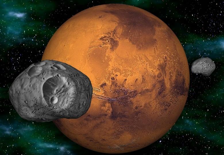 На древнем свитке оказалась карта Марса со спутником