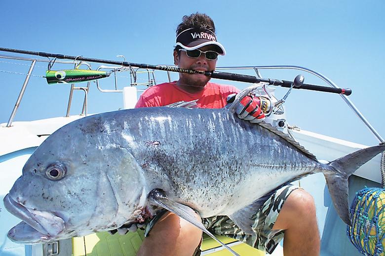 Хищная рыба тревалли – охотник на птиц и даже дельфинов