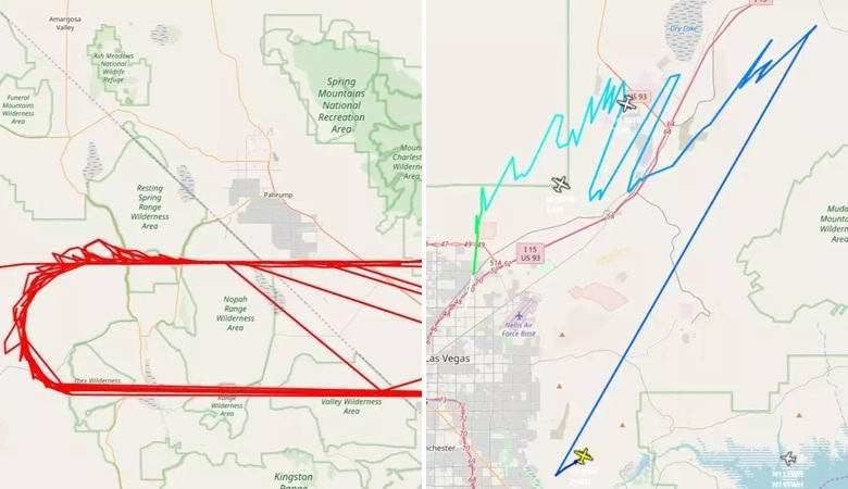 Американские самолеты следуют непонятными маршрутами