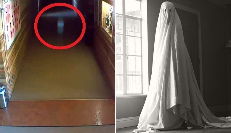 Нечто странное попало на камеру наблюдения в испанской школе