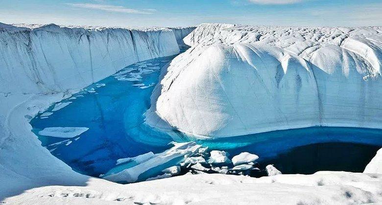 """Прекрасная и опасная Голубая река Гренландии"""" />"""