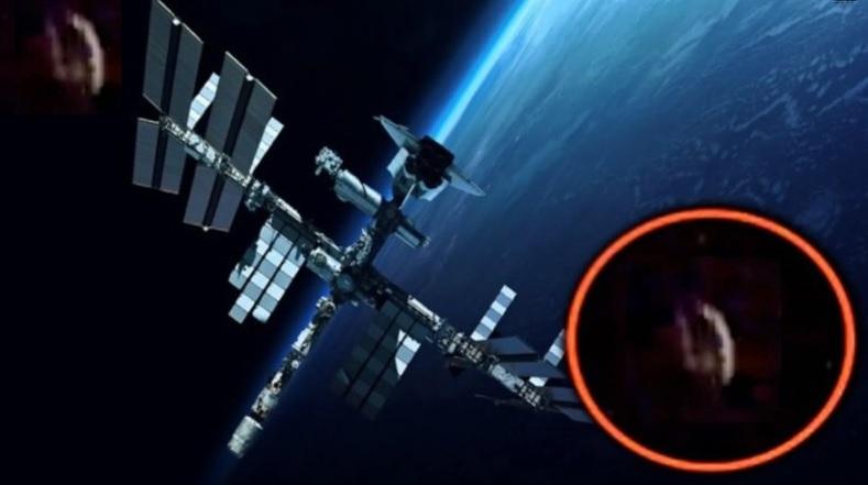 Очередной НЛО появляется рядом с Международной Космической Станцией