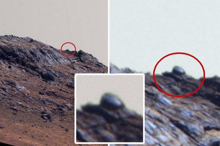 Теперь на Марсе обнаружен подбитый танк?