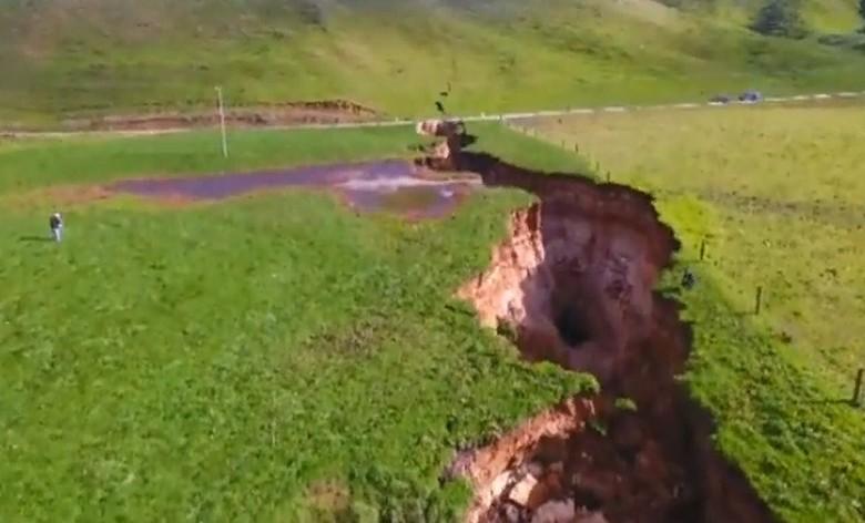 Еще в одном месте треснула земля – теперь в Новой Зеландии