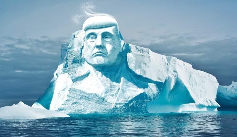 Гигантскую ледяную голову Дональда Трампа высекут в Арктике