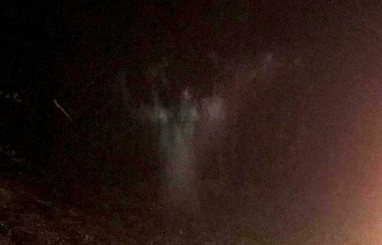 Сфотографирован призрак в ночном американском лесу
