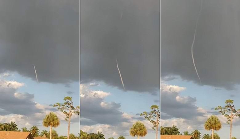 Загадочного «небесного червя» запечатлели над Флоридой
