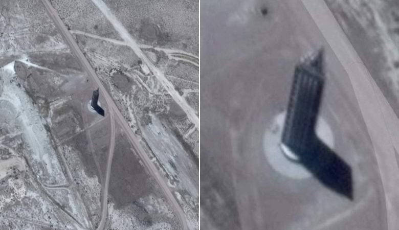 Загадка треугольного «небоскреба» возле легендарной «Зоны 51»