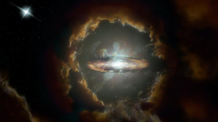 Открыта самая древняя массивная галактика