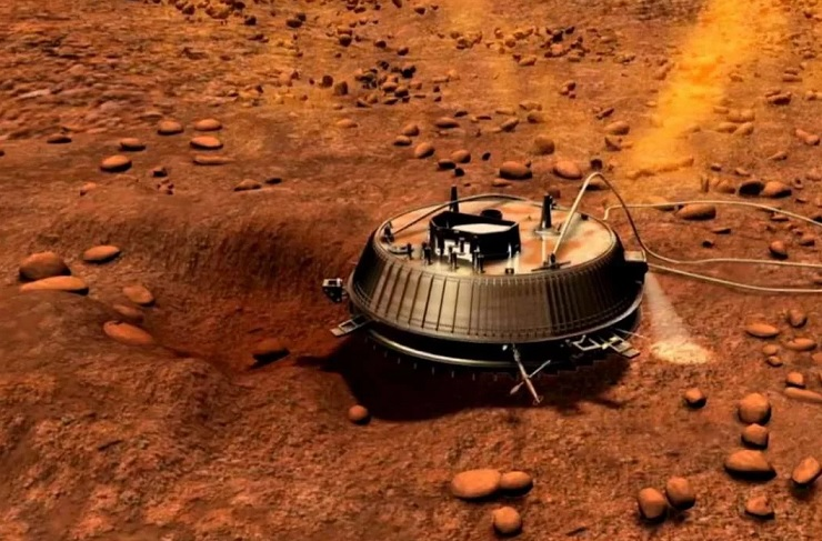 Видео посадки зонда «Гюйгенс» на Титан
