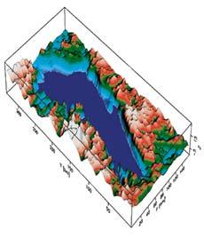 Объемная модель озера Восток