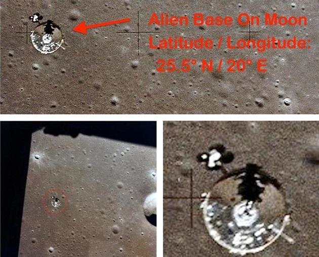 Луна – секретная база инопланетян