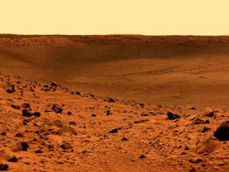Окаменелые останки пришельца на Марсе