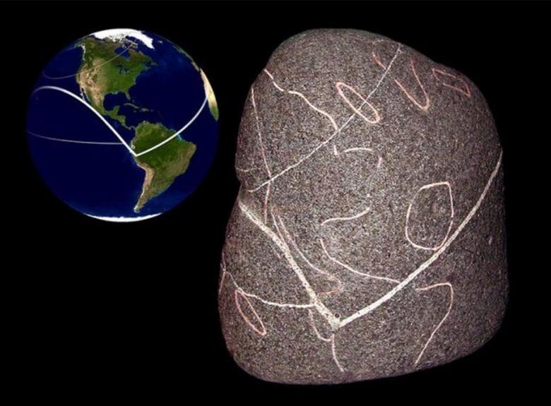 На каменном глобусе обнаружен неизвестный континент (3 фото)
