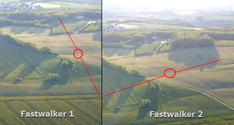 Дрон зафиксировал два скоростных НЛО, полет которых четко кем-то координировался