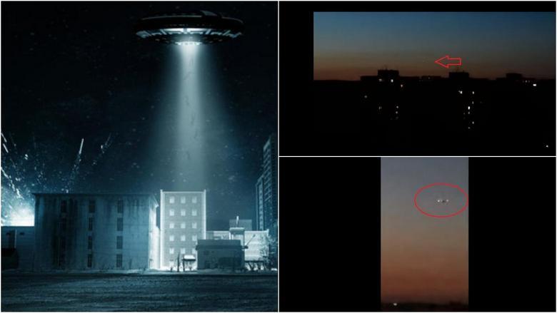Корабль инопланетян «проплыл» над вечерней Самарой