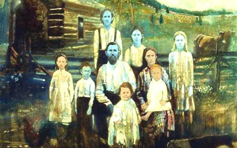 Удивительное американское семейство с необычной синей кожей