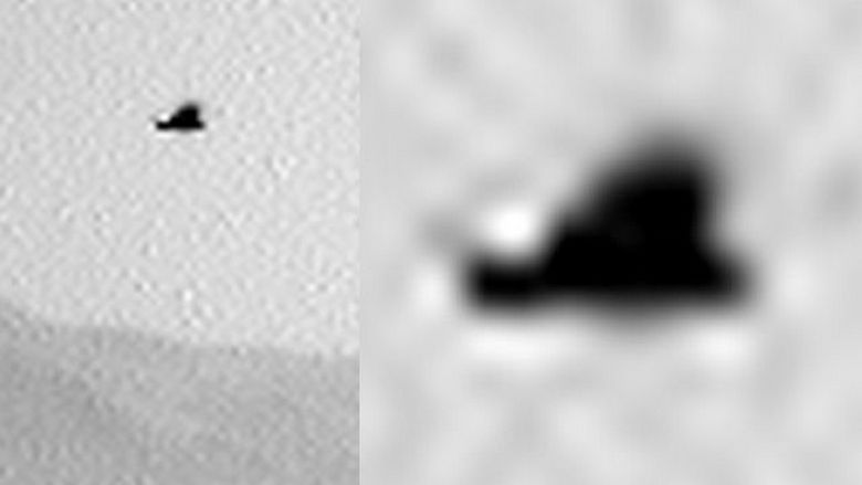 Крылатая аномалия снята камерой ровера Curiosity на Марсе