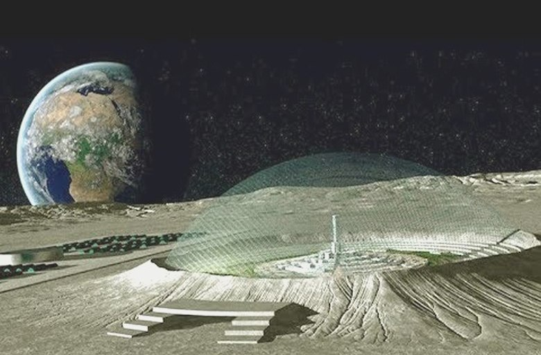 Очередной город пришельцев найден на Луне