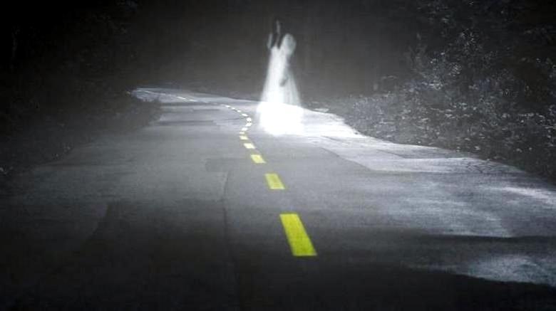 Призрак на дороге Малайзии озадачил водителя