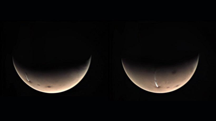 Тонкое облако над марсианским вулканом заинтриговало ученых