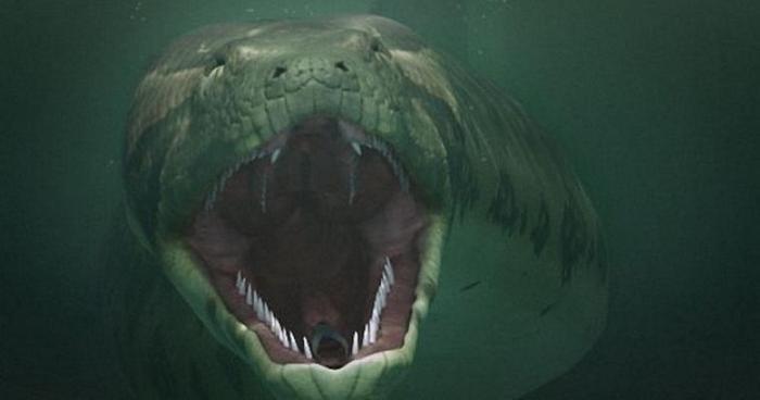 Черный змей гигантских размеров замечен в уральском озере