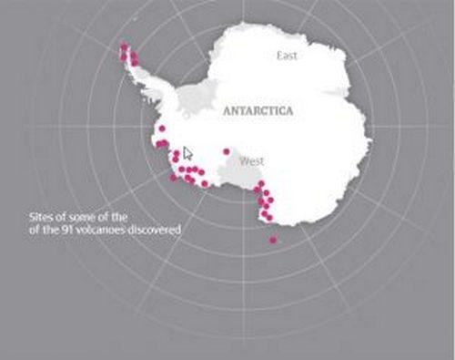 Вулканы Антарктиды грозят новым Всемирным потопом (3 фото)