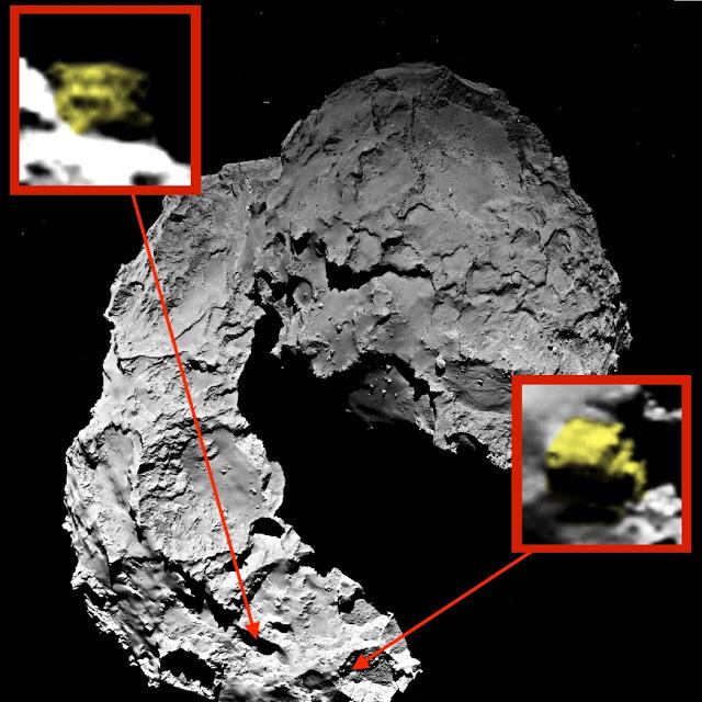 Уфолог увидел два «инопланетных корабля» на комете Чурюмова-Герасименко