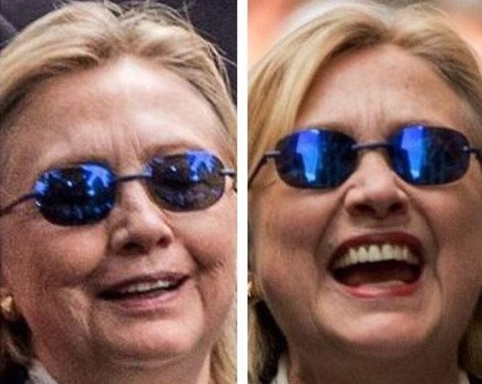 Больную Хиллари Клинтон заменили двойником? (2 фото + видео)