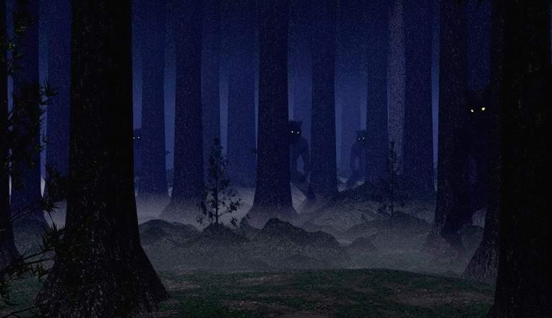 Дагестанский охотник столкнулся с монстром в ночном лесу