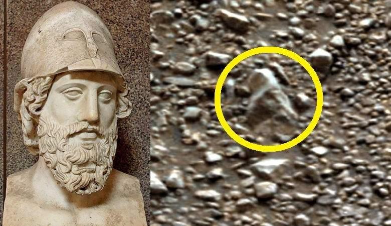 На Марсе нашли голову древнеримской статуи
