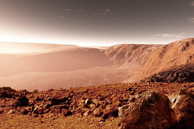 «Голову статуи» обнаружили на Марсе
