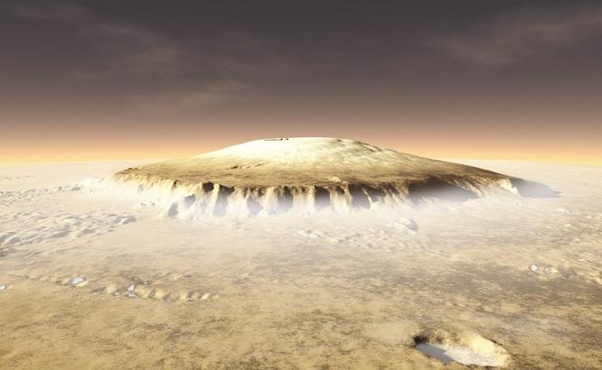 Марс пережил тысячи извержений супервулканов