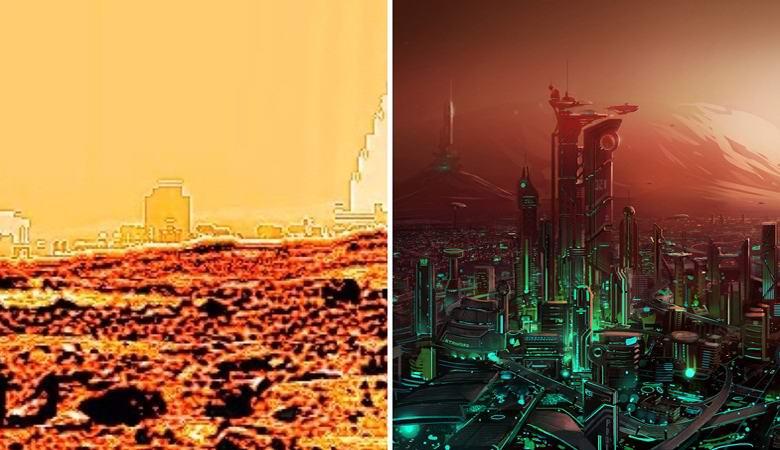 Уфолог обработал снимки Марса и увидел на них города