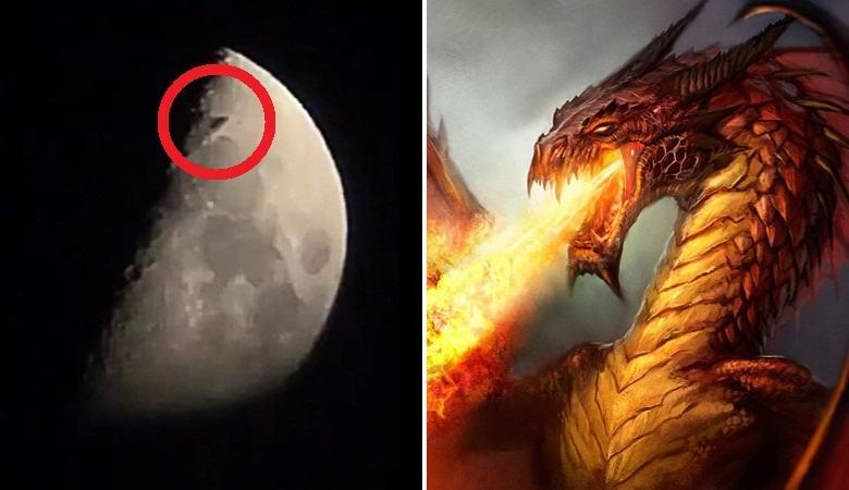 Летящий над Москвой «дракон» попал на видео