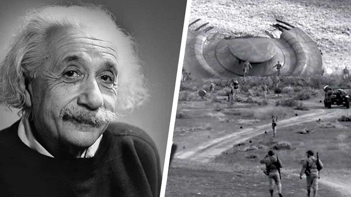 Альберт Эйнштейн прилетал в Розуэлл в 1947 году, чтобы изучить обломки НЛО и инопланетян