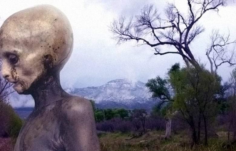 Восстановлено фото с пришельцем, удаленное из Интернета спецслужбами