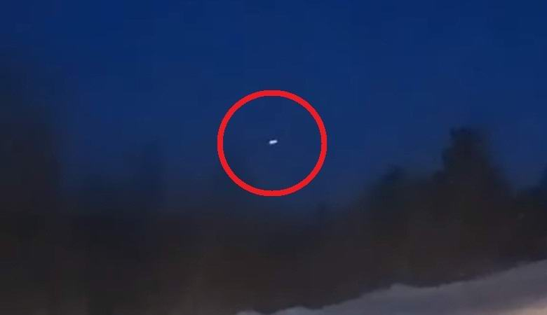Над вечерней Якутией засняли «летающую тарелку»
