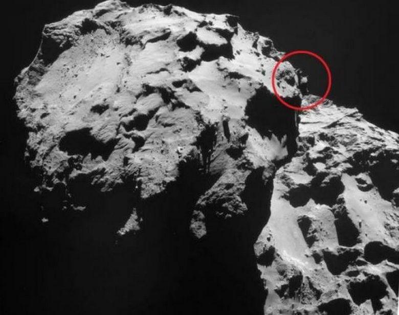 Исследователи обнаружили на комете очередной НЛО