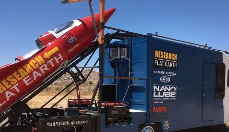 Американец взлетит на самодельной ракете с целью доказательства, что Земля - плоская