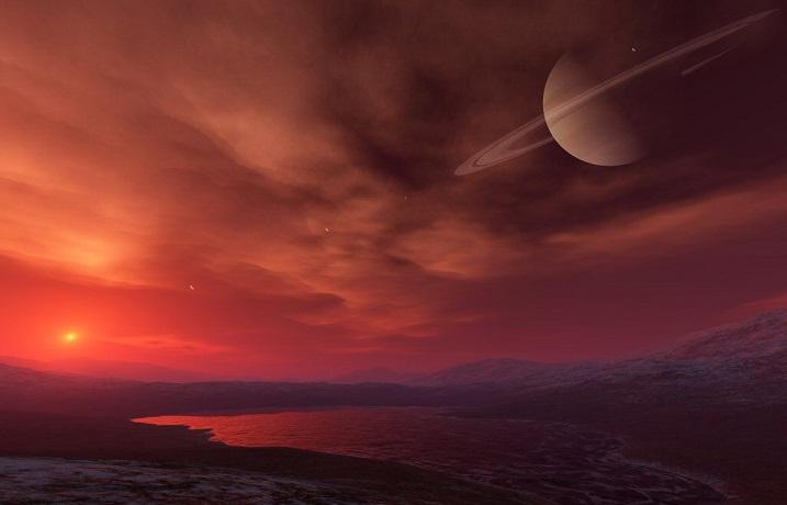 На поверхности спутника Сатурна Титане обнаружены органические материалы