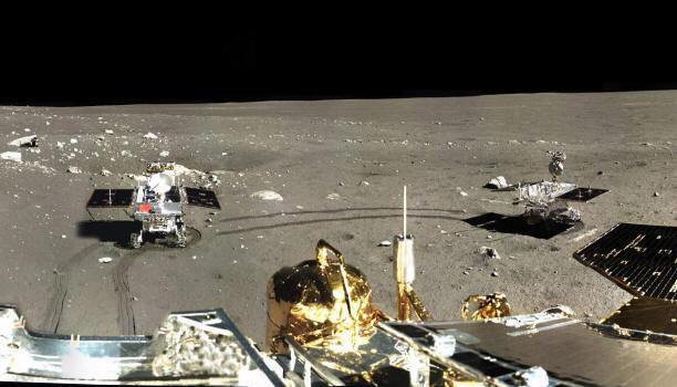 Картинки по запросу Китайский луноход раскрыл ложь американцев про цвет Луны