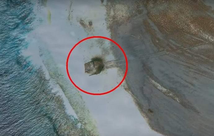 На необитаемом острове обнаружены обломки НЛО